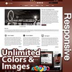 Ares Burnt Maroon - Responsive Skin - Bootstrap - Corporate / Business / Mobile Tablet Skin